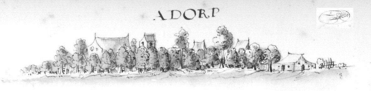 Adorp skyline met handtekening