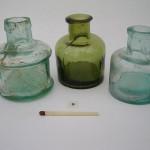 Inktpot, glas, rond