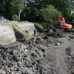Overzicht van de afgraving